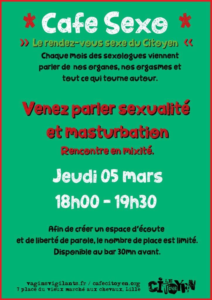 Café Sexo - JEU. 5 MARS de 18H00 à 19H30