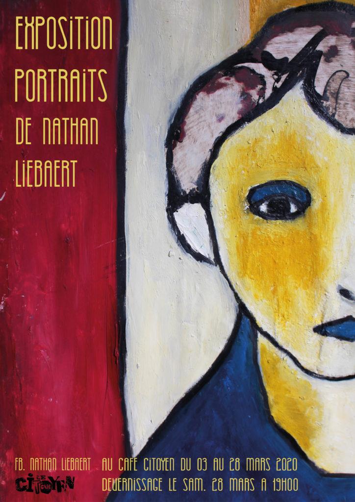 """EXPOSITION """"PORTRAITS"""" DE NATHAN LIEBAERT"""